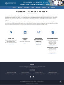 General Surgery Review Program